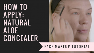 How to Apply Natural Aloe Concealer