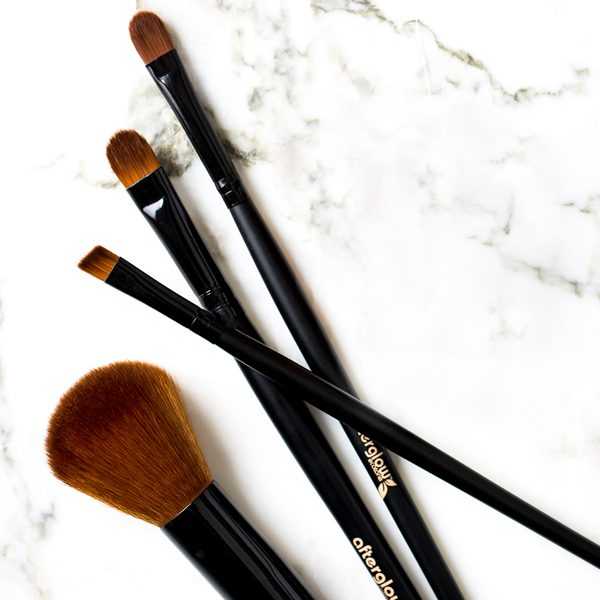 Afterglow Essential Vegan Cosmetics Brush Set